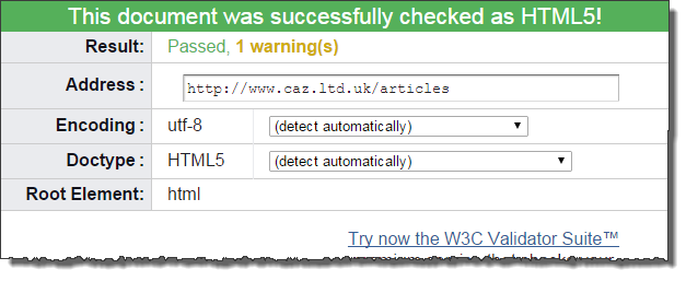 W3 validation results