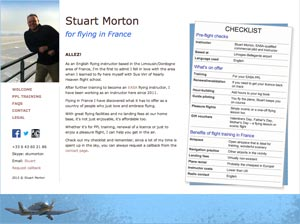Stuart Morton - flying in France