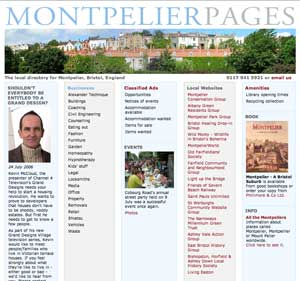 Montpelier Pages screenshot image