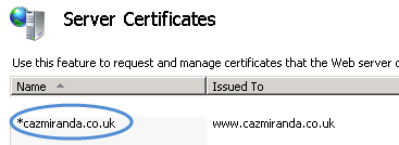 IIS7 server certificate's friendly name.png